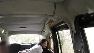 Hot ass brunette anal banged in fake taxi Thumbnail