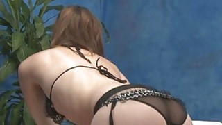Breathtaking lady with bubble booty massages a guy Thumbnail