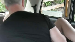 European redhead pounded by fake driver in the backseat Thumbnail