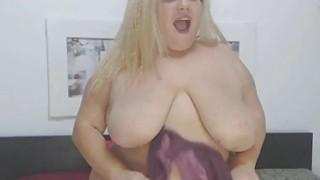 FAT FAT FAT Busty Blonde Chick Masturbates Thumbnail