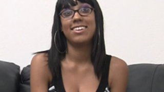 Hot black babe Dee on Backroom Casting Couch Thumbnail