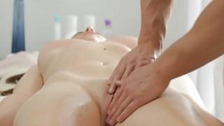 Busty brunette enjoys massage hardcore fuck Thumbnail