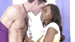 Sexy brunette babe Jezabel Vessir getting fucked at the office table Thumbnail