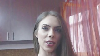 Watch Skinny Brunette Teen Having Fun With Pussy And Ass Thumbnail