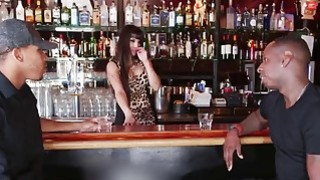 Two Horny Black Guys Tag Team Busty Latina Bartender Mercedes Carrera Thumbnail