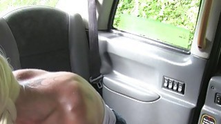 Naughty blonde in red knickers fuck in cab Thumbnail