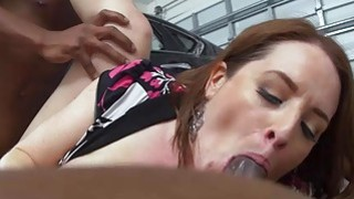 Horny cougar Maggie pounded by mechanics on duty Thumbnail