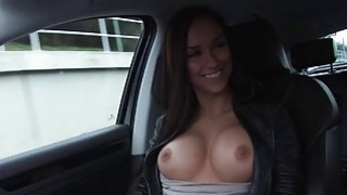 Victoria rides a huge cock in the car Thumbnail