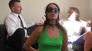 Hot brunette Liz Rainbow getting spanked and drilled roughly