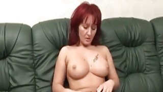 Big titted redhead slut gets fucked by an amputee Thumbnail