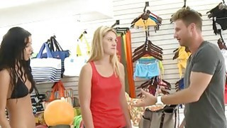 Blondie try out bikini and pounded hard in local store Thumbnail