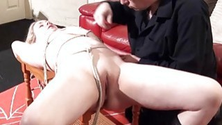 Sexy damsel in distress Amber West in bondage and Thumbnail