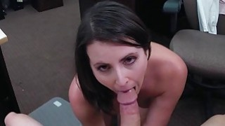 Customers wife pounded by horny pawn guy fuck Thumbnail