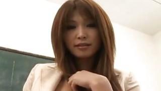 Ai Kurosawa finger fucks herself in front of her student Thumbnail