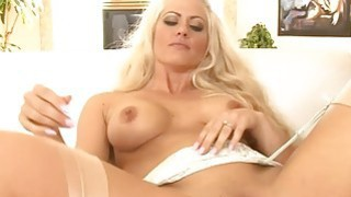 Big tits blonde whore all her fuckholes screwed by BBC Thumbnail