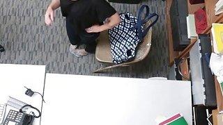 Horny security guard fucking hard slutty teen Penelope Reed