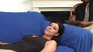 A horny black therapist fucks hot white MILF's pussy as hard as he can