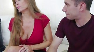 Cougar gives head to horny step son long dong Thumbnail