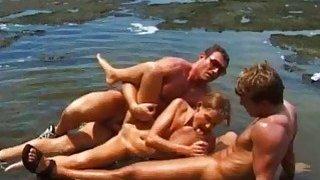 Nikki Montana DP Threesome in Paradise
