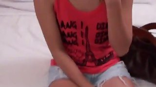 A slutty Thai brunette teen films sex video with a horny tourist Thumbnail