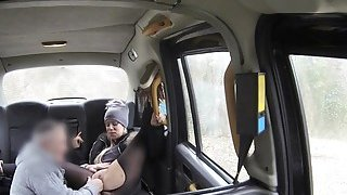Nasty blonde rims and bangs in cab Thumbnail