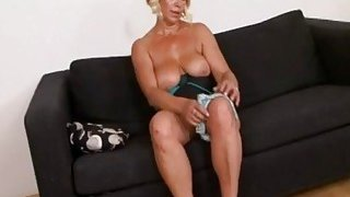 Horny blonde granny who never had a bbc before Thumbnail