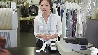 Two hard black cocks for Asian girl's tight butt and hungry mouth Thumbnail