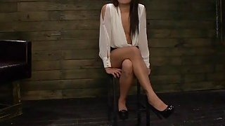 BDSM and rough fucking with hot brunette whore Isa Mendez Thumbnail