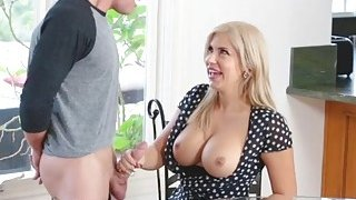 Horny babe Savana Styles felling hot and horny for hard pole Thumbnail