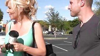 Blonde cougar Sasha Sean getting fucked hard by a big cocked young stud Thumbnail