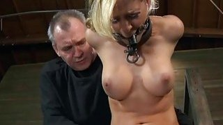 Busty gal likes getting bawdy cleft torture Thumbnail