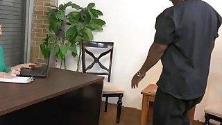 Busty milf Kiki Daire takes two long black cocks