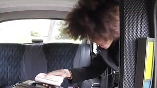 Perfect ass ebony gets big cock in cab