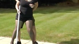 Blonde granny gives blowjob to horny pool boy Thumbnail