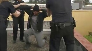 Black dude is forced to fuck horny female cops and satisfy their creamy pussies Thumbnail