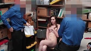 Shoplifters mouth and pussy man handle by the LP Officers Thumbnail