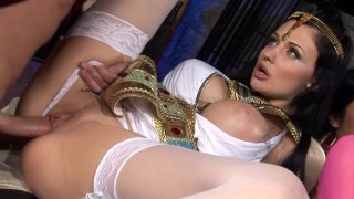 Group sex at the museum with Aletta Ocean Thumbnail
