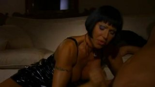 Naughty Italian MILF has fun with her perverted boy toy Thumbnail