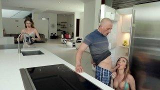 Tiffany Watson gives nice blowjob in the kitchen Thumbnail