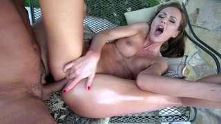 Tina Kay gets her rectum destroyed by the hard rod Thumbnail