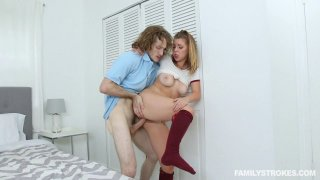 Alluring blonde teen pussy pounded by stepbro hard and fast Thumbnail