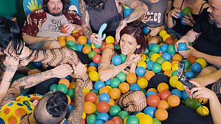 Ball pit babe gets teased on cam Thumbnail