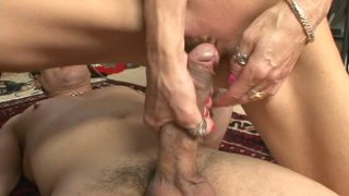 Slutty blond milf Crystal White gets her pussy eaten and pounded in the dorm Thumbnail