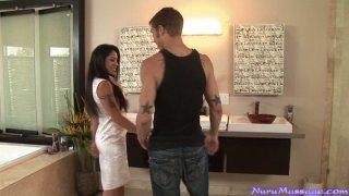 Magnificent Jeneveve Jolie gives the best Nuru massage Thumbnail
