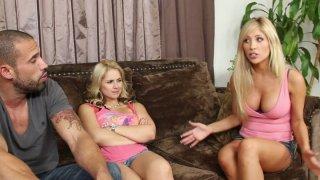 Horny Barbie Sarah Vandella enjoys providing a blowjob to a stiff cock Thumbnail