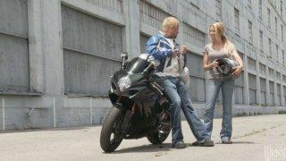 Legendary porn babes Alexis Texas and Briana Blair fucking biker boy Thumbnail