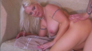Plump blond housewife Veronica Vaughn was caught cheating her husband Thumbnail