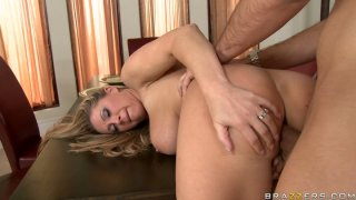 Jaw Dropping slut Devon Lee gives blowjob and gets doggy fucked Thumbnail