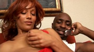 Red haired mulatto with cellulitis ass Cassidy Cummings is a real cum gourmet Thumbnail