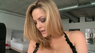 Buxom and sweet blondie Alexis Texas gets her tasty pussy licked Thumbnail